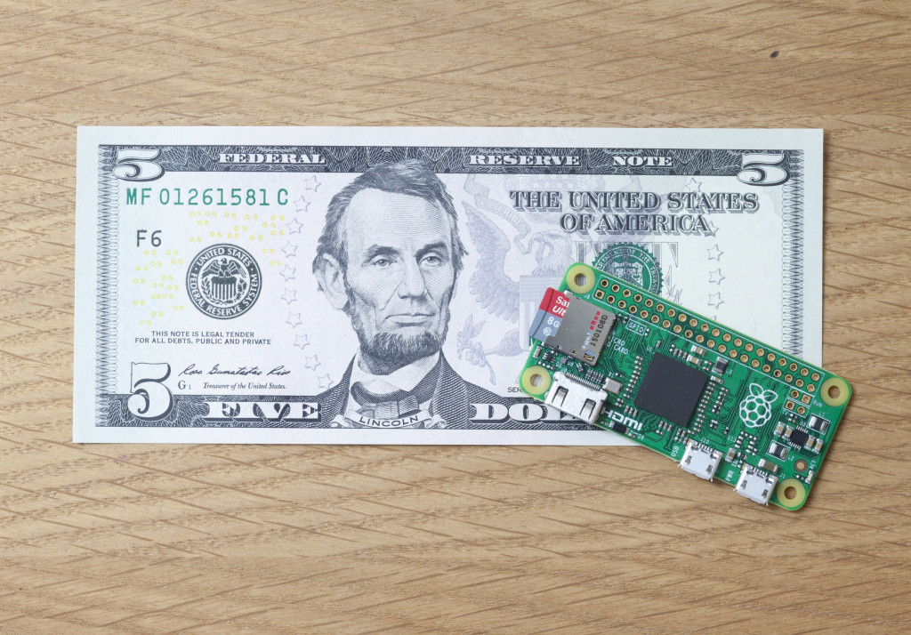 The Raspberry Pi Zero. Photographer: Matt Richardson