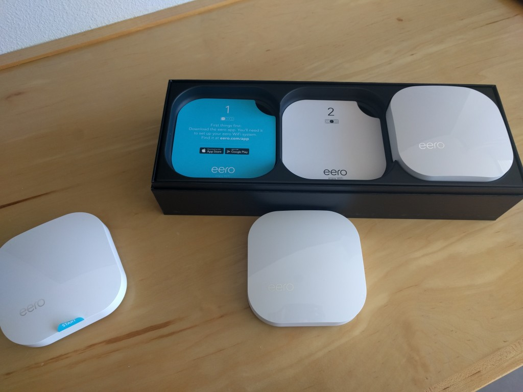 The Eero router 3-pack.