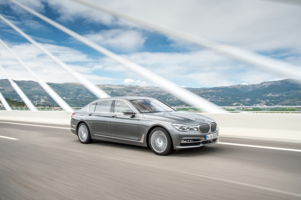 The BMW Series 7 sedan packs a lot of silicon.  --Image courtesy of  BMW.