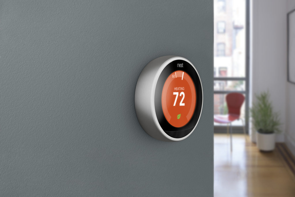 The Nest thermostat courtesy of Nest.