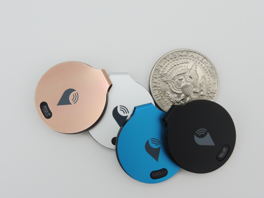 The Trackr Bravo trackers. Image courtesy of Trackr.