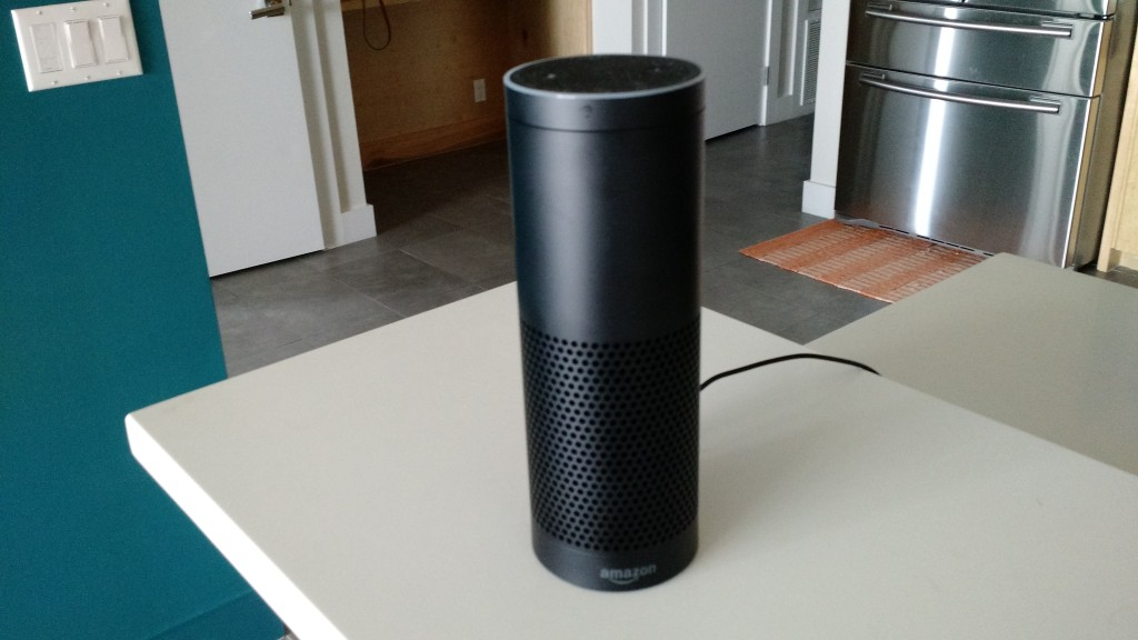 The Amazon Echo in my kitchen.